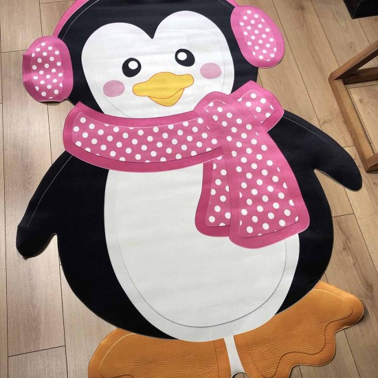 3d Kids Carpet - Penguin