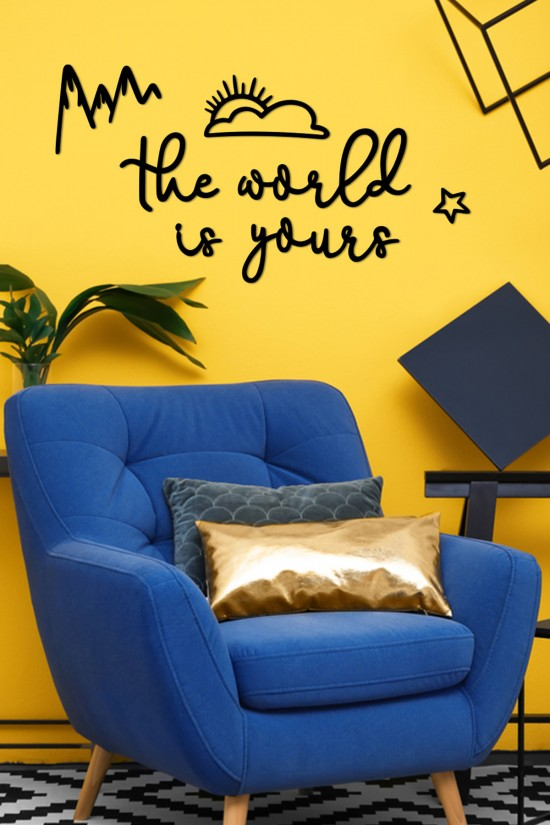 """""""the wolrld is yours""""  Decorative Wall Paper"""