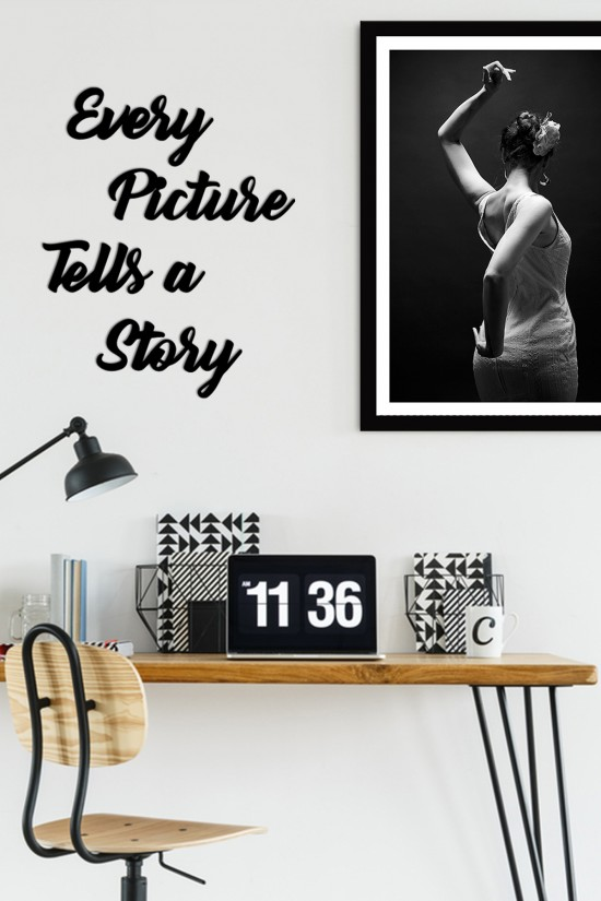 """""""Every Picture Tells A Story"""" Decorative Wall Paper"""