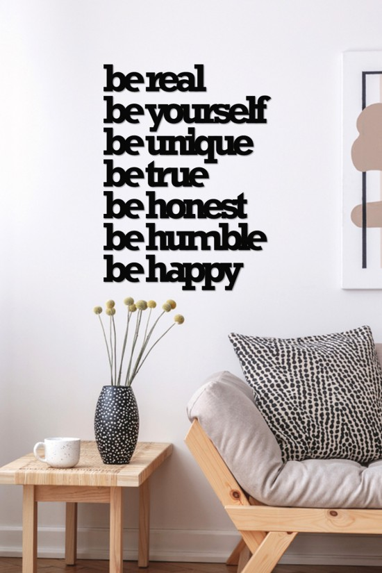"""be real be yourself"" Decorative Wall Paper"