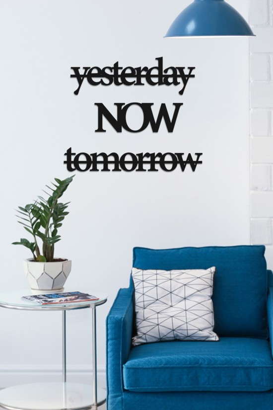 """""""yesterday now tomorrow"""" Decorative Wall Paper"""