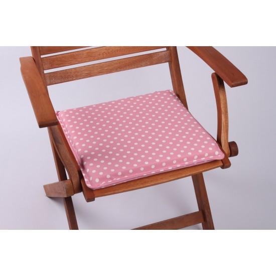 Pembe Puantiye Sandalye Minderi