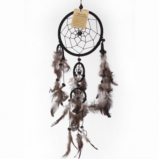 Dream Catcher Dekor - Siyah 12x36 cm