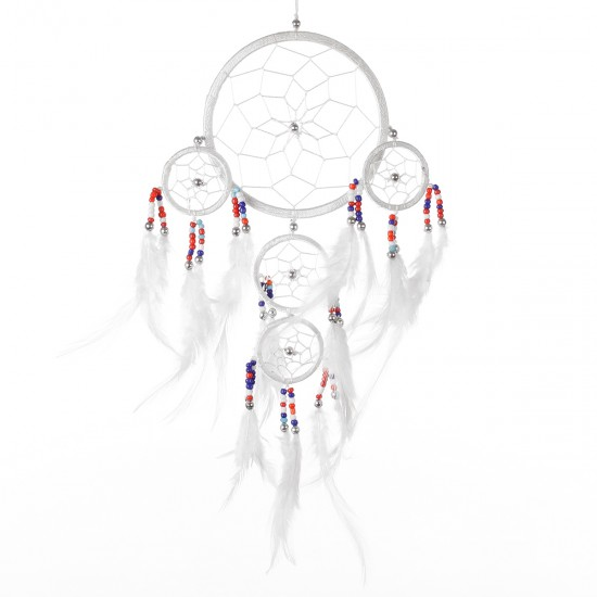 Dream Catcher Dekor - Beyaz 12x36 cm