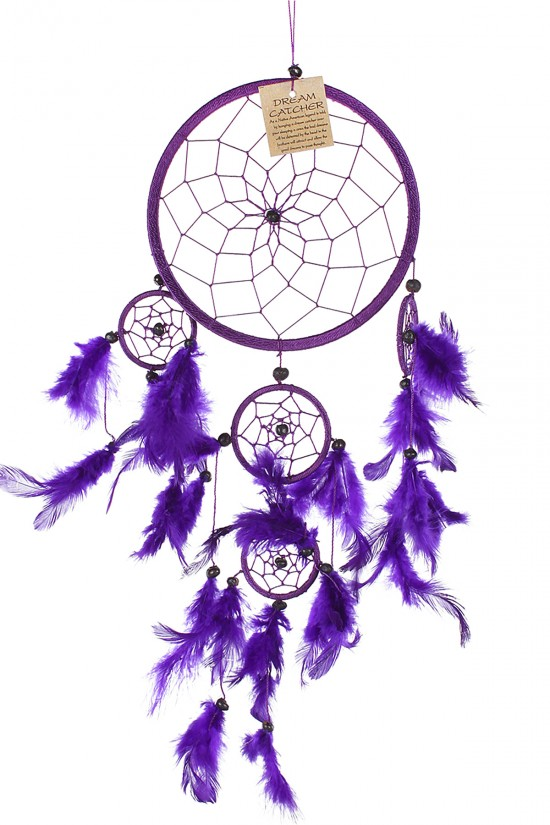 Dream Catcher Dekor - Mor 16x36 cm