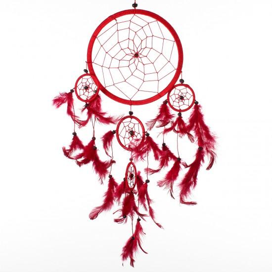 Dream Catcher Dekor - Kırmızı 16x36 cm