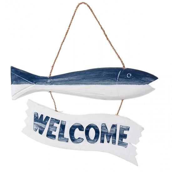 Balık Welcome Duvar/Kapı Süsü