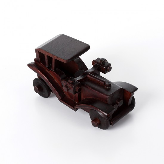 Ahşap Klasik Araba Antika Görünümlü Küçük