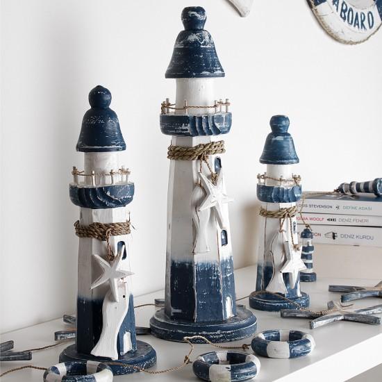 Ahşap Deniz Feneri Biblo