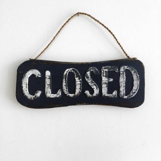 Ahşap Closed Duvar/Kapı Süsü