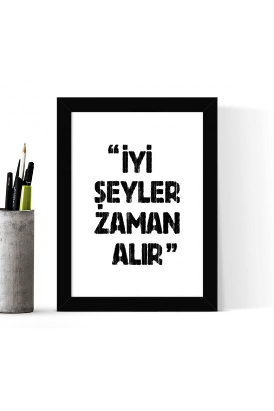 Çerçeveli Poster Tablo - 18 x 24 cm