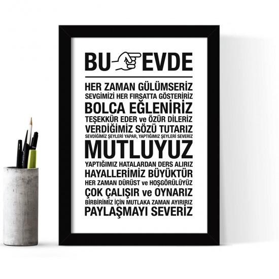 Çerçeveli Poster Tablo - 24 x 33 cm FM2130.1601