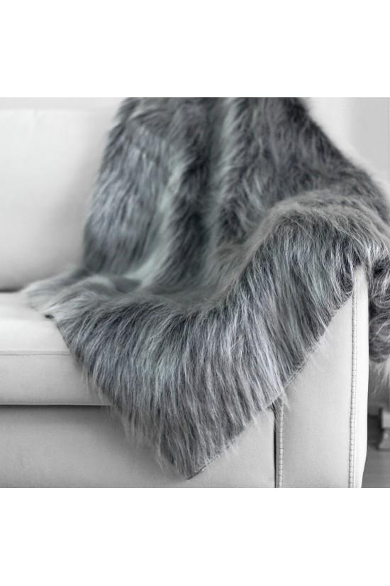 Plush Seat Shawl - Grey