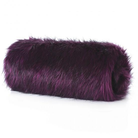Plush Seat Shawl - Purple