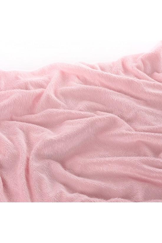 Plush Seat Shawl Short Feather - Pink