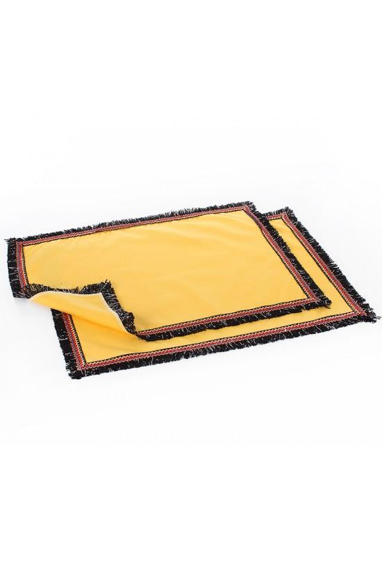 Püskül Şeritli Amerikan Servis Sarı - 2 Adet