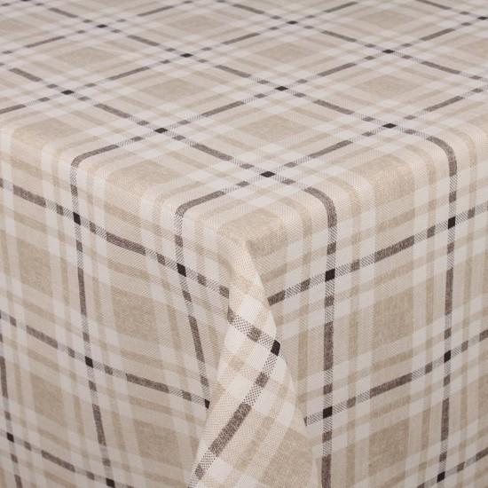 Gri Kareli Masa Örtüsü - 160x220 cm