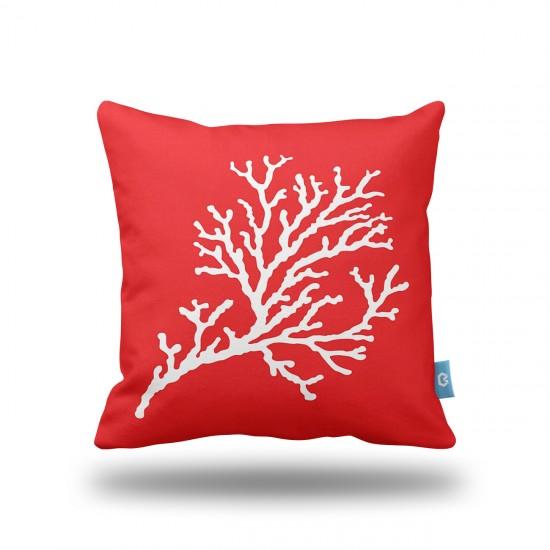 Kırmızı Mercan Yastık Kılıfı