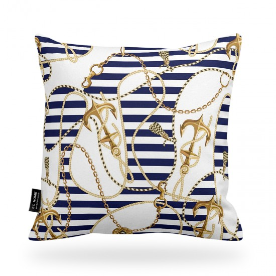 Marine Patterned Decorative Pillow Cover
