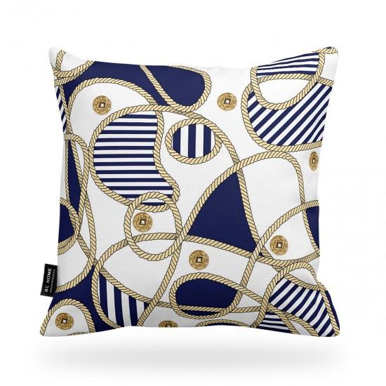 Marin Desenli Dekoratif Yastık Kılıfı