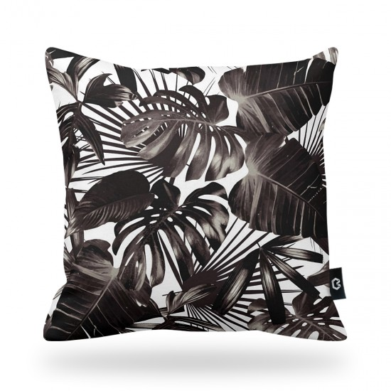 Leaf Patterned Decorative Pillow Cover