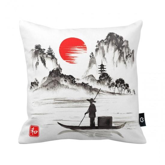 Japon Dekoratif Yastık Kılıfı