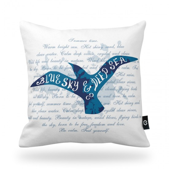 """Blue Sky"" Bird Decorative Pillow Cover"