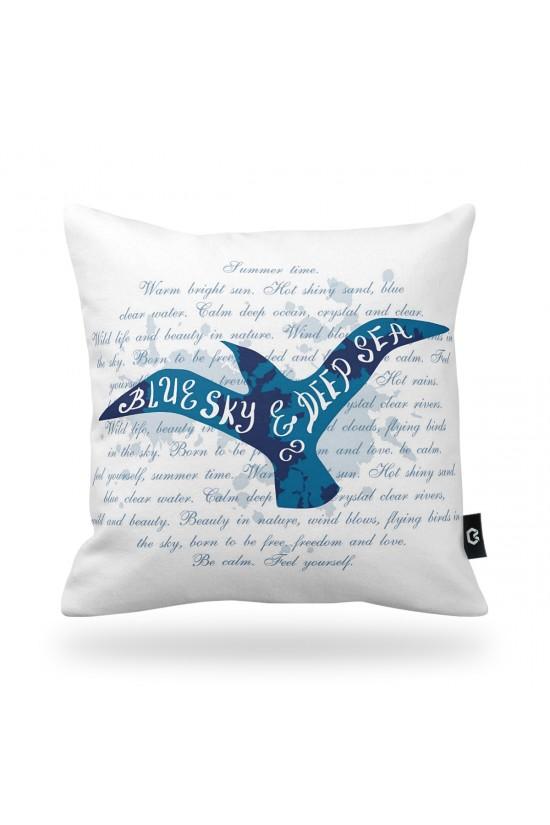 """""""Blue Sky"""" Bird Decorative Pillow Cover"""