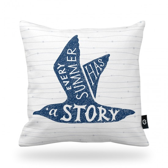 Bird Patterned Decorative Pillow Cover