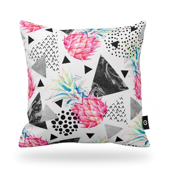 Pineapple Geometric Patterned Decorative Pillow Cover