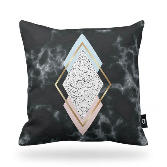 Geometrik Marble Patterned Decorative Pillow Cover