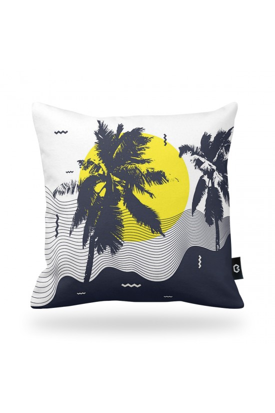 Palm Tree Patterned Decorative Pillow Cover