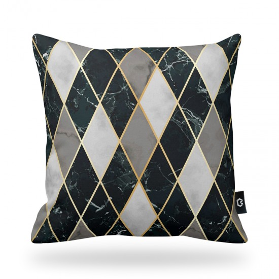 Geometrik Desenli Dekoratif Yastık Kılıfı