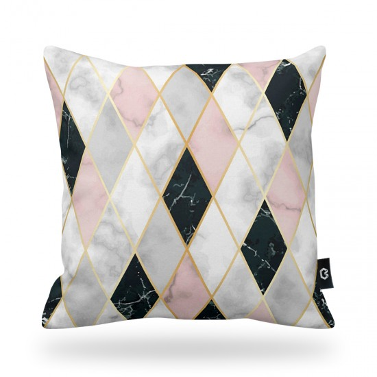 Geometric Patterned Decorative Pillow Cover