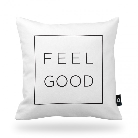 """Feel Good"" Decorative Pillow Cover"