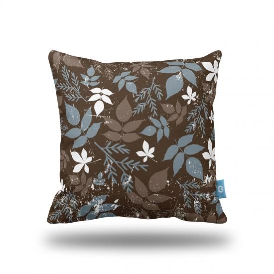 Güz Yapraklar Kahve Dekoratif Yastık Kılıfı