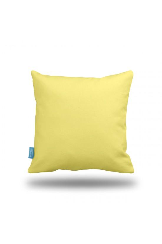 Sarı Home Sweet Home Dekoratif Yastık Kılıfı