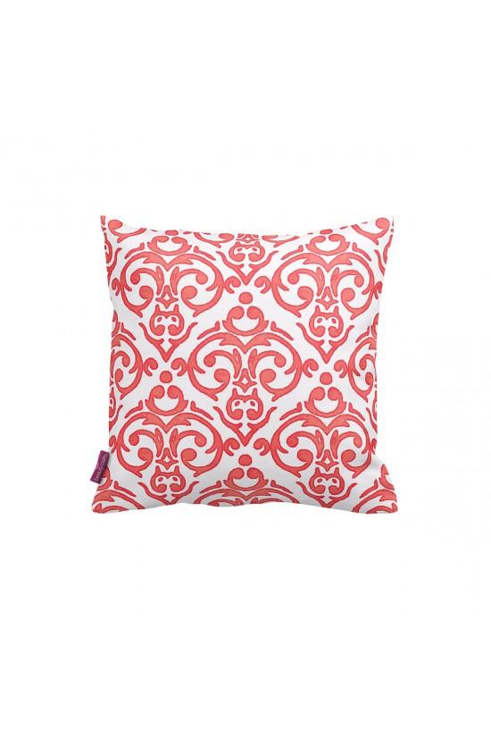 Beyaz-Kırmızı Oryantal Dekoratif Yastık Kılıfı