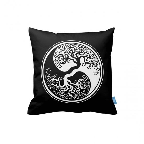 Ying Yang Ağaç Dekoratif Yastık Kılıfı