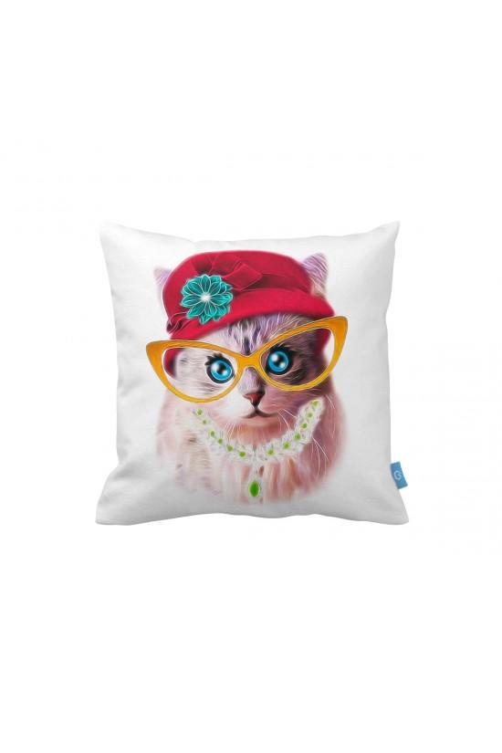 Lady Kedi Dekoratif Yastık Kılıfı