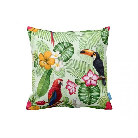 Tropikal Desenli Dekoratif Yastık Kılıfı
