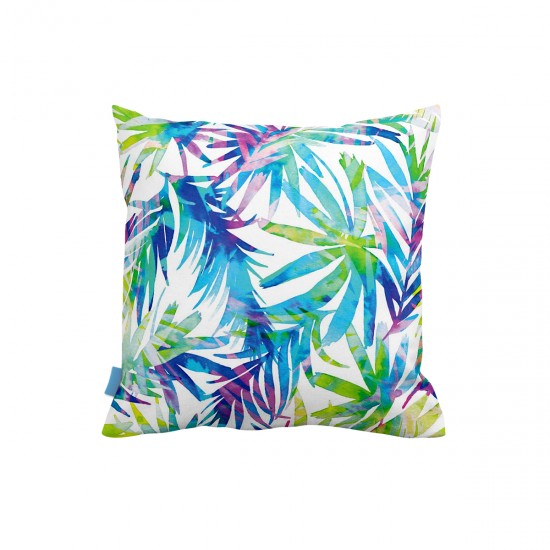 Tropikal Renkli Yapraklar Dekoratif Yastık Kılıfı