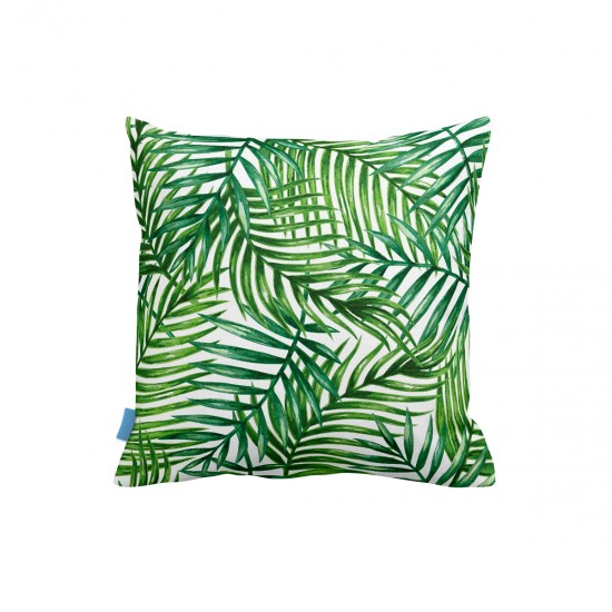 Tropikal Yapraklar Dekoratif Yastık Kılıfı
