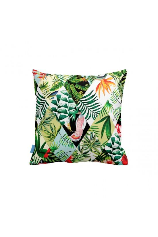 Tropikal Kırkyama Dekoratif Yastık Kılıfı