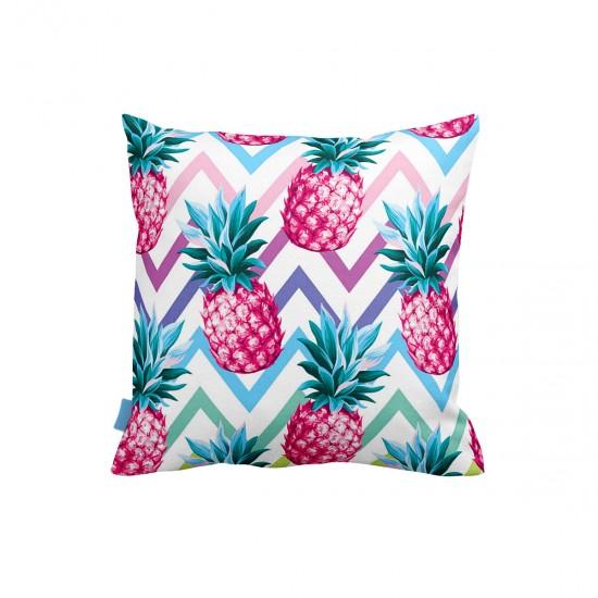 Ananas Gökkuşağı Dekoratif Yastık Kılıfı