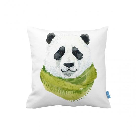 Atkılı Panda Dekoratif Yastık Kılıfı