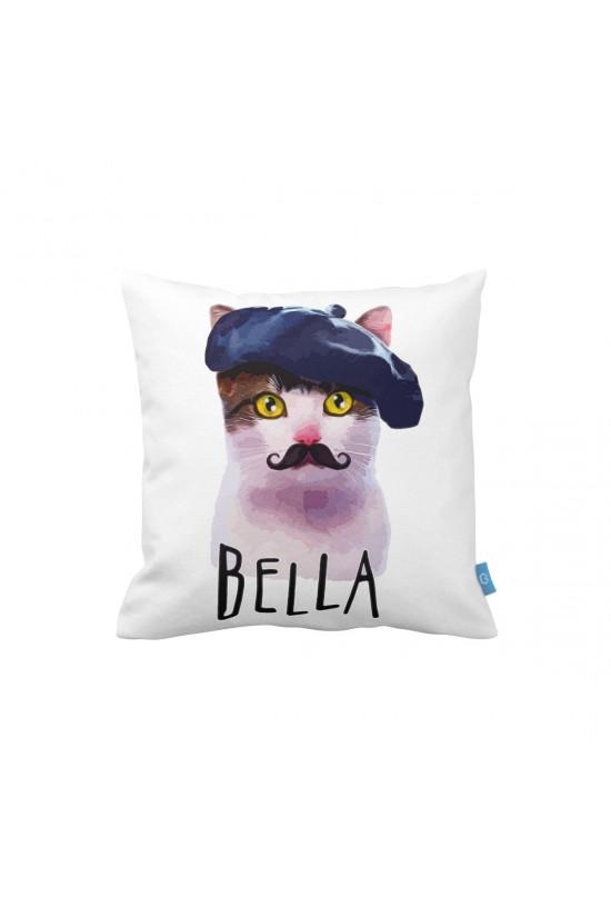 Kedi Bella Dekoratif Yastık Kılıfı