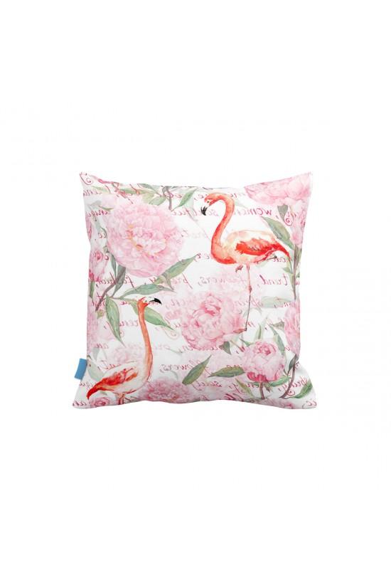 Flamingo Desenli Dekoratif Yastık Kılıfı
