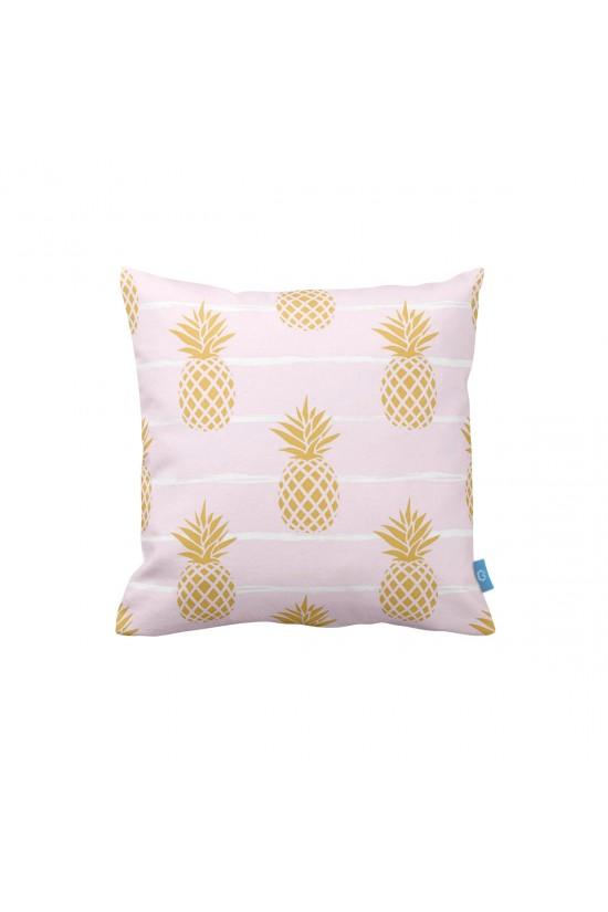 Ananaslar Pembe Dekoratif Yastık Kılıfı