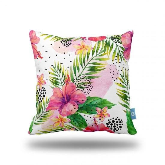 Çiçek Desenli Dekoratif Yastık Kılıfı